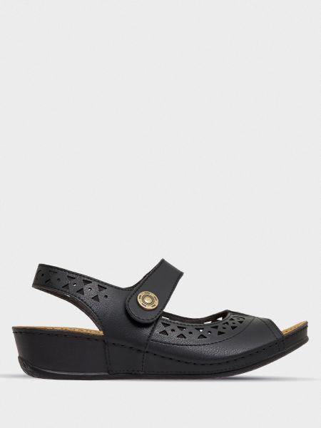 Кожаные сандалии - черные Gunter