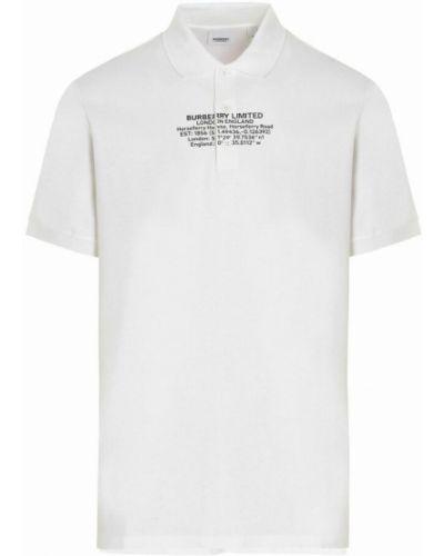 Koszulka - biała Burberry