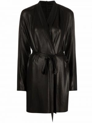 Пальто с поясом - черное Rick Owens Lilies
