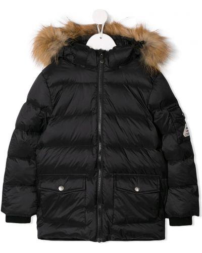 Черное пальто Pyrenex Kids