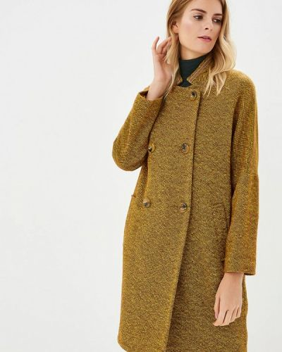 Желтое пальто осеннее Immagi