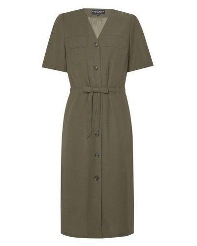 Зеленое платье с поясом с разрезом Dorothy Perkins