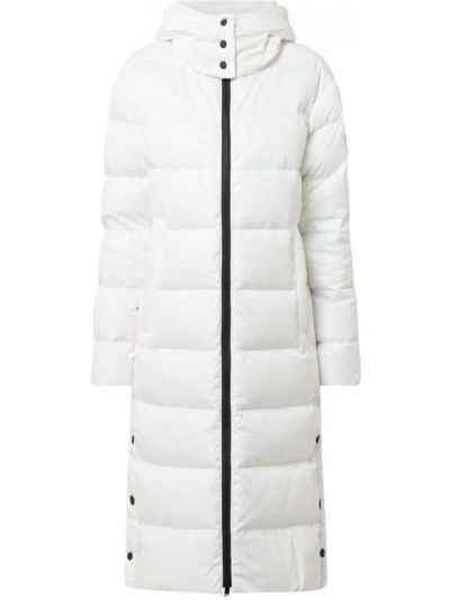 Biały płaszcz z kapturem Bogner Fire + Ice