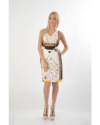 Хлопковое платье - белое Roberto Cavalli