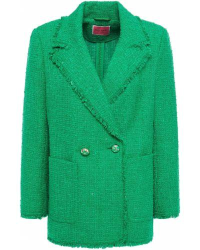 Пиджак твидовый двубортный с заплатками Kate Spade New York