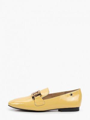 Желтые лаковые кожаные лоферы Tuffoni