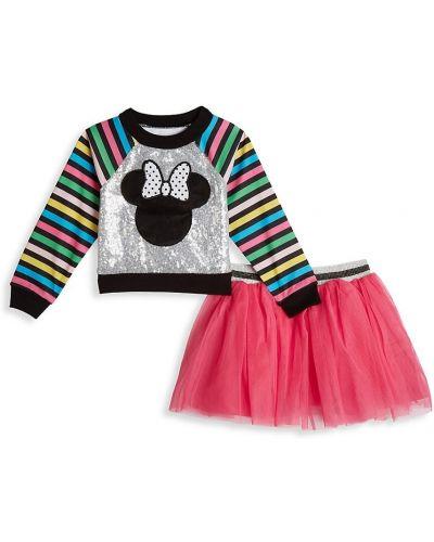 Różowa długa spódnica w paski z cekinami Disney X Pippa & Julie