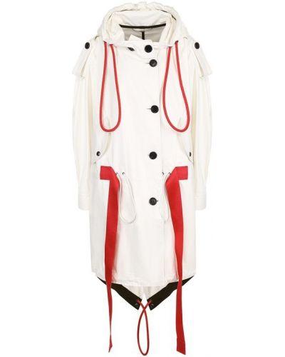 Пальто с капюшоном с поясом кожаное Burberry