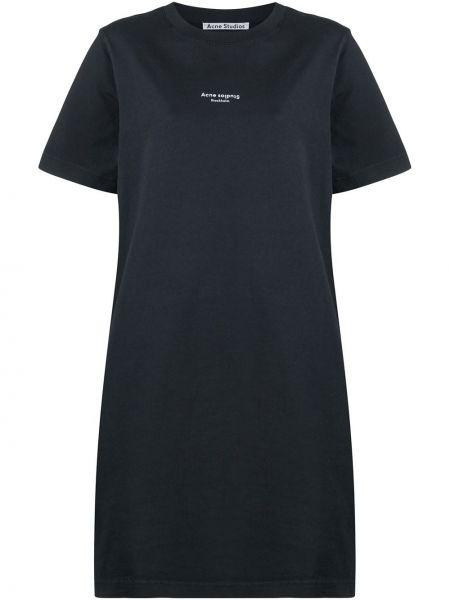Черное платье мини короткое Acne Studios