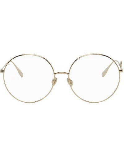 Черные очки для зрения круглые прозрачные Dior