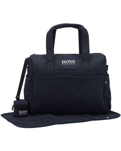 Niebieski nylon torba z kieszeniami Hugo Boss