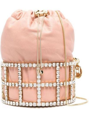 Różowa torebka skórzana Rosantica