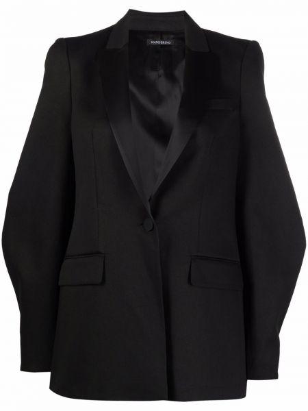 Черный пиджак на пуговицах из вискозы Wandering