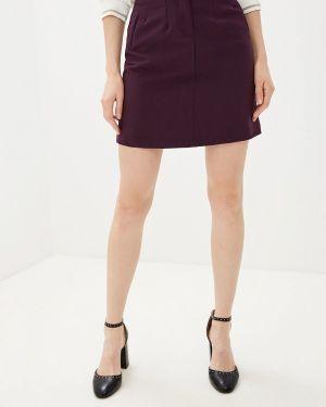 Фиолетовая юбка карандаш с рукавом 3/4 Love My Body