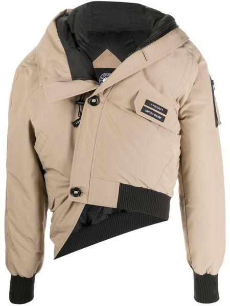 С рукавами коричневая куртка с капюшоном Y Project