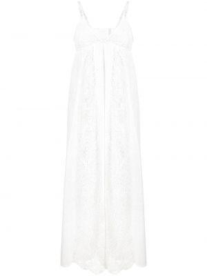 Кружевное белое платье макси для полных Pinko