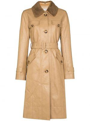 Бежевое длинное пальто Rejina Pyo