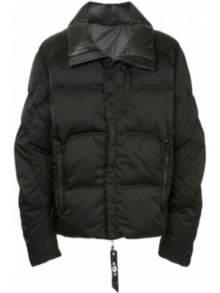 Черная куртка на молнии круглая с вырезом Kru