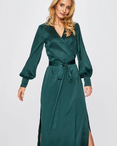 Платье миди прямое с манжетами Answear