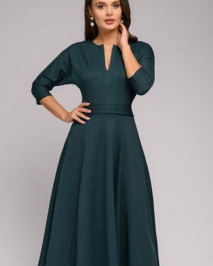 Повседневное платье с V-образным вырезом с поясом 1001 Dress