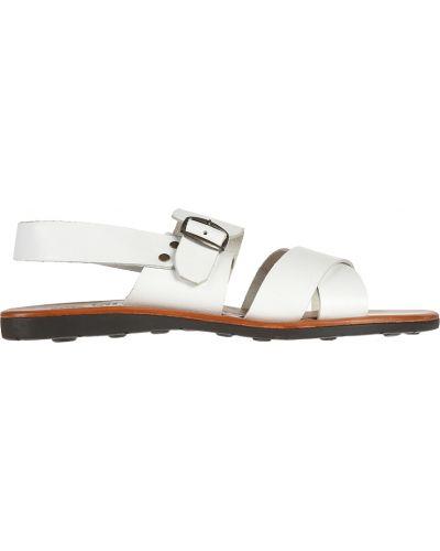 Кожаные сандалии - белые Zeus