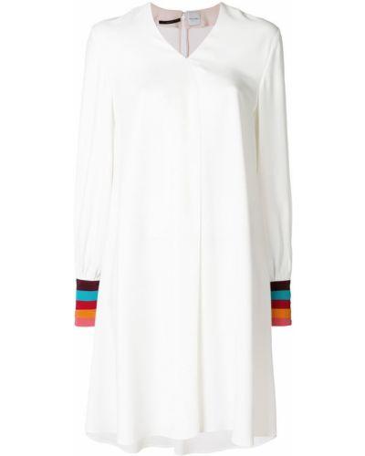 Платье в полоску с V-образным вырезом с длинными рукавами Paul Smith