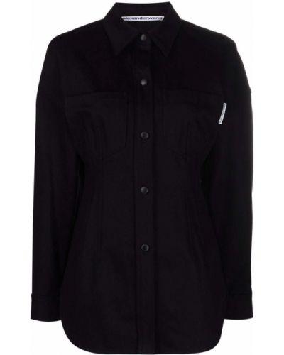 Koszula asymetryczna - czarna Alexander Wang