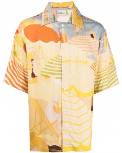 Koszula krótki rękaw z wiskozy na plażę Drole De Monsieur