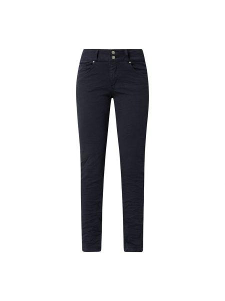 Niebieskie jeansy zapinane na guziki bawełniane Buena Vista