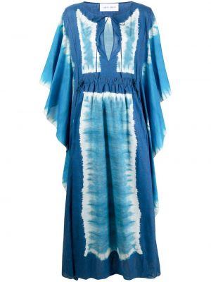Хлопковое платье макси - синее Alberta Ferretti