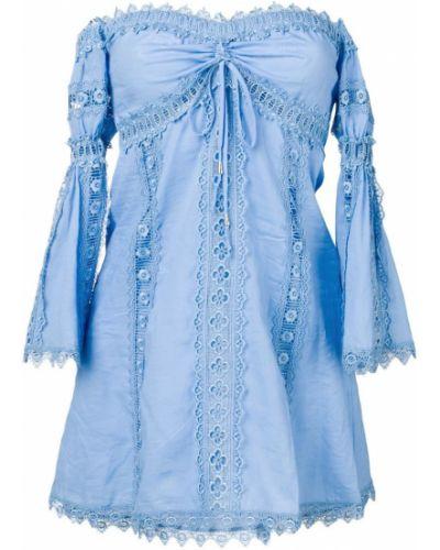 Блузка с открытыми плечами с вышивкой Charo Ruiz