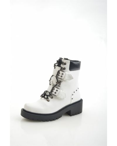 Кожаные ботинки белые кожаные Wilmar