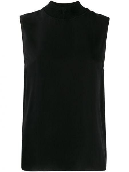 Блузка без рукавов с воротником-стойкой батник Theory