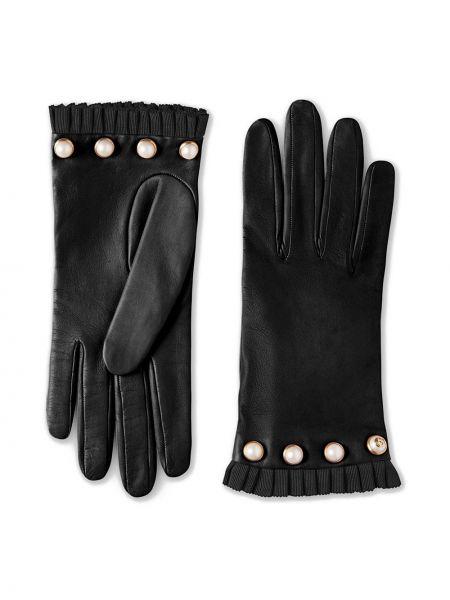 Перчатки с заклепками - черные Gucci