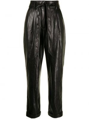 Кожаные черные брюки с карманами Fleur Du Mal
