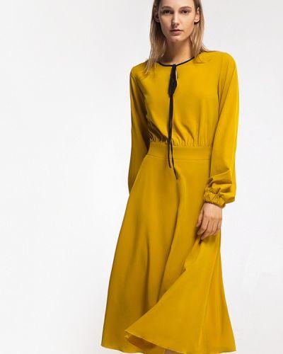 Платье весеннее желтый Grass