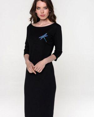 Платье прямое черное Pavesa