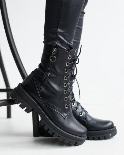 Кожаные ботинки - черные Marsel