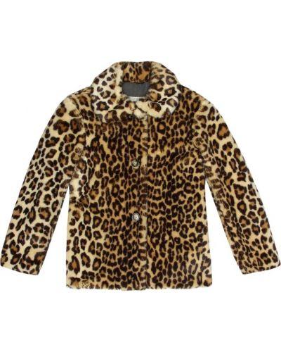 Пальто леопардовый с принтом Bonpoint