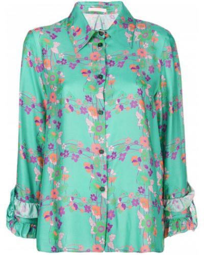 Классическая рубашка с принтом с цветочным принтом Kristina Ti