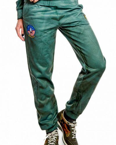 Зеленые спортивные брюки Fusion