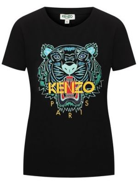 Футболка черная с тигром Kenzo