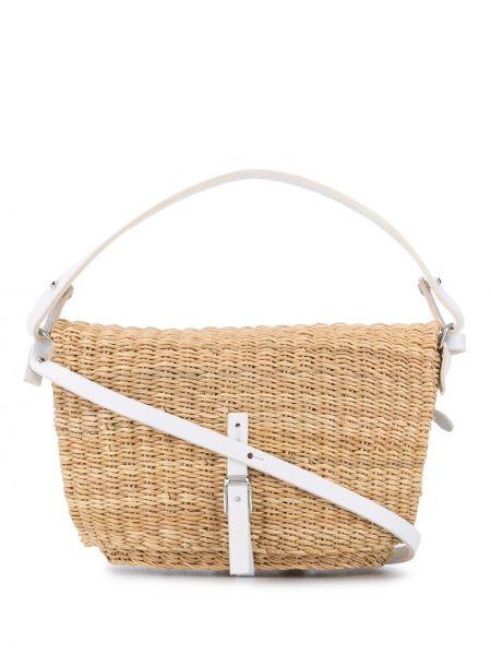 Кожаная белая сумка-тоут с подкладкой Muun