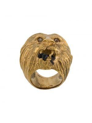 Pierścień szary ze złota Goossens