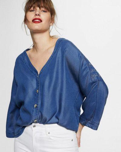 Синяя джинсовая рубашка Violeta By Mango