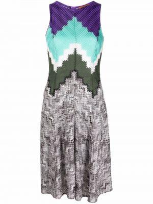 Шелковое платье - коричневое Missoni