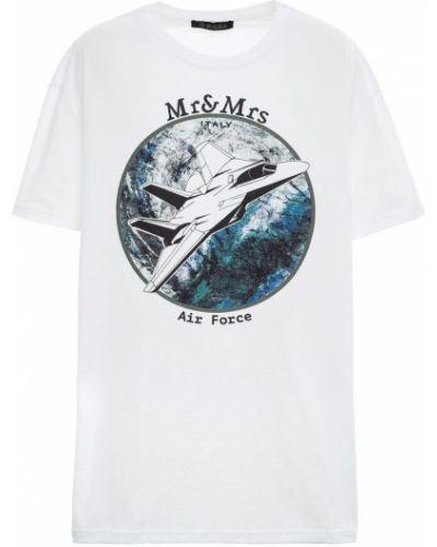Czarny t-shirt bawełniany oversize Mr&mrs Italy