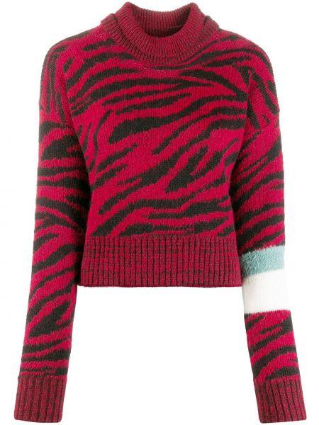 Czarny sweter wełniany z długimi rękawami Brognano