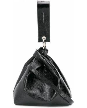 Черная кожаная сумка Elena Ghisellini
