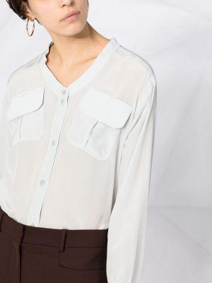 Шелковая блузка - синяя Dorothee Schumacher